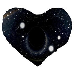 Brightest Cluster Galaxies And Supermassive Black Holes Large 19  Premium Flano Heart Shape Cushions by Mariart