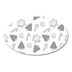 Ginger Cookies Christmas Pattern Oval Magnet by Valentinaart