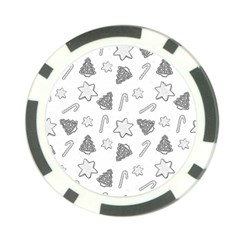 Ginger Cookies Christmas Pattern Poker Chip Card Guard by Valentinaart