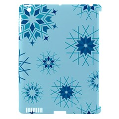 Blue Winter Snowflakes Star Apple Ipad 3/4 Hardshell Case (compatible With Smart Cover) by Mariart