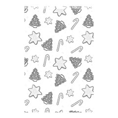 Ginger Cookies Christmas Pattern Shower Curtain 48  X 72  (small)  by Valentinaart