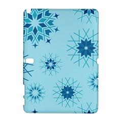 Blue Winter Snowflakes Star Galaxy Note 1 by Mariart