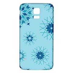 Blue Winter Snowflakes Star Samsung Galaxy S5 Back Case (white) by Mariart