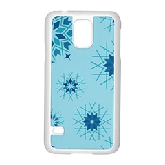 Blue Winter Snowflakes Star Samsung Galaxy S5 Case (white) by Mariart