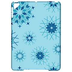 Blue Winter Snowflakes Star Apple Ipad Pro 9 7   Hardshell Case by Mariart