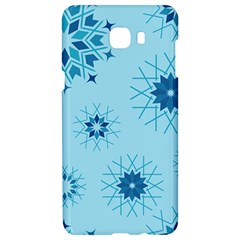 Blue Winter Snowflakes Star Samsung C9 Pro Hardshell Case  by Mariart