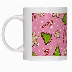 Ginger Cookies Christmas Pattern White Mugs by Valentinaart