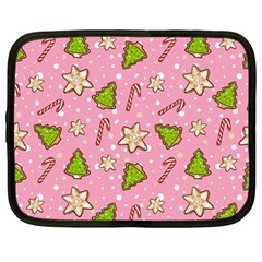 Ginger Cookies Christmas Pattern Netbook Case (large) by Valentinaart