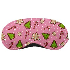 Ginger Cookies Christmas Pattern Sleeping Masks by Valentinaart