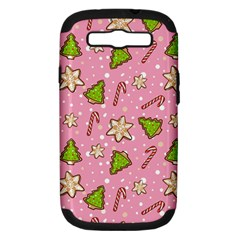 Ginger Cookies Christmas Pattern Samsung Galaxy S Iii Hardshell Case (pc+silicone) by Valentinaart