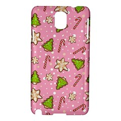 Ginger Cookies Christmas Pattern Samsung Galaxy Note 3 N9005 Hardshell Case by Valentinaart