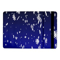 Blue Sky Christmas Snowflake Samsung Galaxy Tab Pro 10 1  Flip Case by Mariart