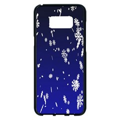 Blue Sky Christmas Snowflake Samsung Galaxy S8 Plus Black Seamless Case by Mariart