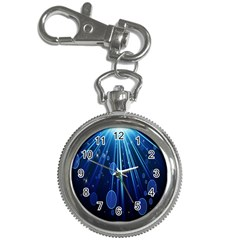 Blue Rays Light Stars Space Key Chain Watches by Mariart