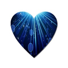 Blue Rays Light Stars Space Heart Magnet