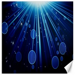 Blue Rays Light Stars Space Canvas 16  X 16   by Mariart