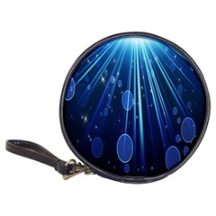 Blue Rays Light Stars Space Classic 20 Cd Wallets by Mariart