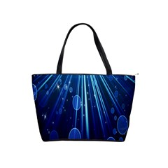 Blue Rays Light Stars Space Shoulder Handbags by Mariart