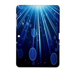 Blue Rays Light Stars Space Samsung Galaxy Tab 2 (10 1 ) P5100 Hardshell Case  by Mariart