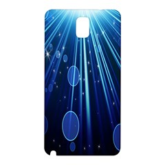 Blue Rays Light Stars Space Samsung Galaxy Note 3 N9005 Hardshell Back Case by Mariart