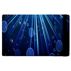 Blue Rays Light Stars Space Apple Ipad Pro 12 9   Flip Case by Mariart