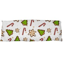Ginger Cookies Christmas Pattern Body Pillow Case Dakimakura (two Sides) by Valentinaart