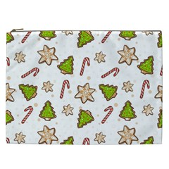 Ginger Cookies Christmas Pattern Cosmetic Bag (xxl)  by Valentinaart
