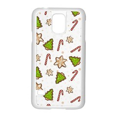 Ginger Cookies Christmas Pattern Samsung Galaxy S5 Case (white) by Valentinaart