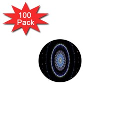 Colorful Hypnotic Circular Rings Space 1  Mini Buttons (100 Pack)  by Mariart