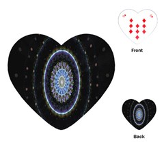 Colorful Hypnotic Circular Rings Space Playing Cards (heart)  by Mariart