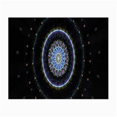 Colorful Hypnotic Circular Rings Space Small Glasses Cloth (2 Side) by Mariart