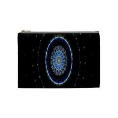 Colorful Hypnotic Circular Rings Space Cosmetic Bag (medium)  by Mariart