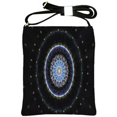 Colorful Hypnotic Circular Rings Space Shoulder Sling Bags by Mariart