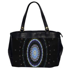 Colorful Hypnotic Circular Rings Space Office Handbags (2 Sides)  by Mariart
