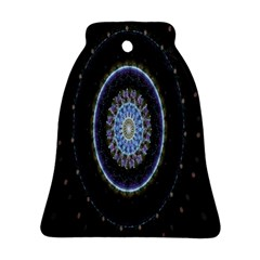 Colorful Hypnotic Circular Rings Space Bell Ornament (two Sides) by Mariart