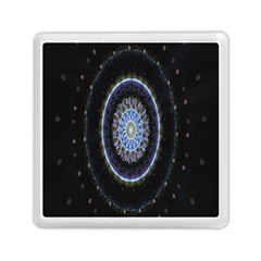 Colorful Hypnotic Circular Rings Space Memory Card Reader (square)  by Mariart