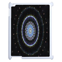 Colorful Hypnotic Circular Rings Space Apple Ipad 2 Case (white) by Mariart