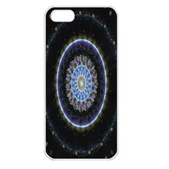 Colorful Hypnotic Circular Rings Space Apple Iphone 5 Seamless Case (white) by Mariart