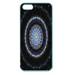 Colorful Hypnotic Circular Rings Space Apple Seamless Iphone 5 Case (color) by Mariart