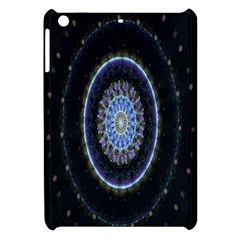 Colorful Hypnotic Circular Rings Space Apple Ipad Mini Hardshell Case by Mariart
