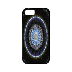 Colorful Hypnotic Circular Rings Space Apple Iphone 5 Classic Hardshell Case (pc+silicone) by Mariart