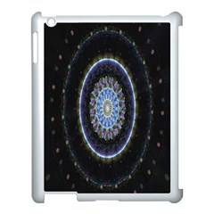 Colorful Hypnotic Circular Rings Space Apple Ipad 3/4 Case (white) by Mariart