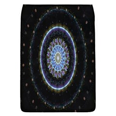 Colorful Hypnotic Circular Rings Space Flap Covers (l)  by Mariart