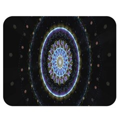 Colorful Hypnotic Circular Rings Space Double Sided Flano Blanket (medium)  by Mariart