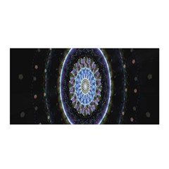 Colorful Hypnotic Circular Rings Space Satin Wrap by Mariart