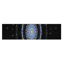 Colorful Hypnotic Circular Rings Space Satin Scarf (oblong) by Mariart