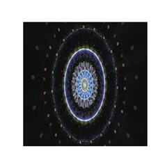 Colorful Hypnotic Circular Rings Space Small Satin Scarf (square) by Mariart