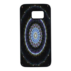 Colorful Hypnotic Circular Rings Space Samsung Galaxy S7 Black Seamless Case by Mariart