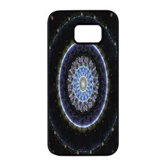 Colorful Hypnotic Circular Rings Space Samsung Galaxy S7 Edge Black Seamless Case by Mariart