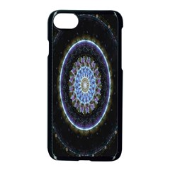 Colorful Hypnotic Circular Rings Space Apple Iphone 7 Seamless Case (black)